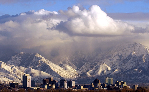 Tribune file photo The Salt Lake City skyline a couple of weeks before the start of the Winter Olympics in 2002.