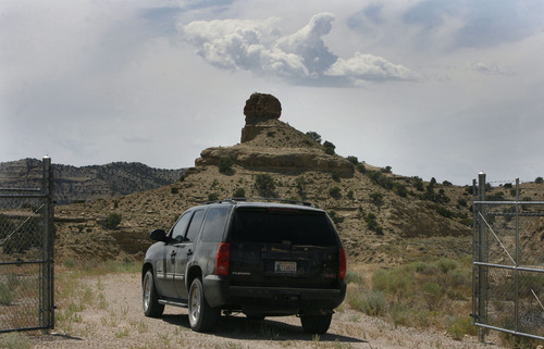 Scott Sommerdorf   |  The Salt Lake Tribune The Estonian state-owned company Enefit American Oil seeks to develop Utah oil shale in eastern Uintah County. It has already excavated tons of ore that has been shipped to Germany for testing, Wednesday, August 7, 2013.