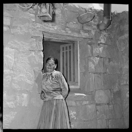 Salt Lake Tribune archive  A Navajo woman at St. Christopher's Mission in Bluff, Utah, 1950.