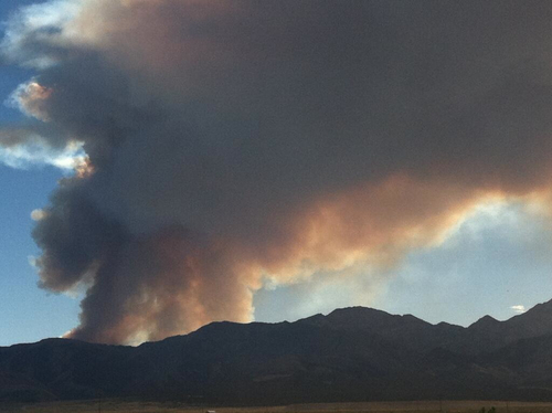 The Patch Springs Fire, burning in Skull Valley, had topped 3,000 acres by Monday morning. (Interagency Fire Center photo)