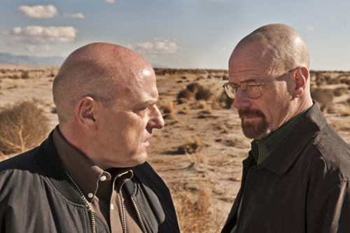 "Dean Norris as Hank Schrader and Bryan Cranston as Walter White in ""Breaking Bad."" Courtesy photo"