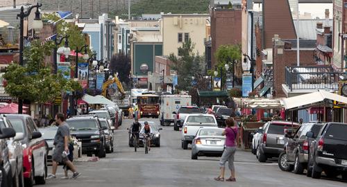 Steve Griffin | The Salt Lake Tribune  Park City, Utah's Main Street Monday August 12, 2013.