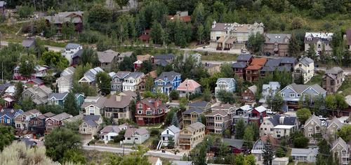 Steve Griffin   The Salt Lake Tribune  Homes in downtown Park City, Utah Monday August 12, 2013.