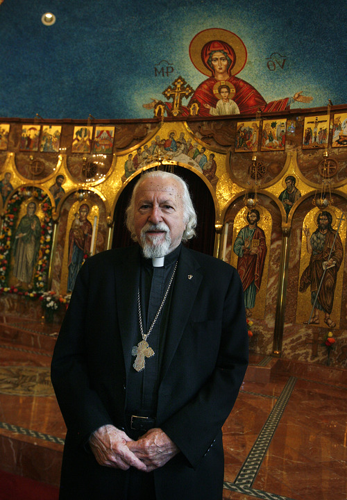 Scott Sommerdorf      Tribune file photo Metropolitan Isaiah, regional head of the Greek Orthodox Church, has ordered three Utah clergy members to suspend priestly ministries in the wake of a 40 percent cut to their pay by the cash-strapped parish council.