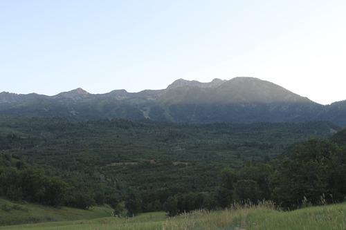 Jessica Miller | The Salt Lake Tribune Mount Ogden overlooks Art Nord trail in Ogden. (July 30, 2013).