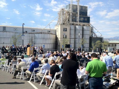 Rick Egan  |  The Salt Lake Tribune Grand opening ceremonies took place Friday for UTA's new Draper TRAX line. U.S. Department of Transportation Secretary Anthony Foxx was among dignitaries speaking.