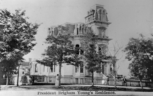 """Salt Lake Tribune archive  """"Amelia's Palace,"""" also known as the Gardo House, was built by Brigham young for his """"favorite"""" wife Amelia. It was located on the SW corner of South Temple and State. Before the mansion was half finished, Brigham Young died. His successor in the LDS Church presidency, John Taylor, purchased the home and lived there the remainder of his days."""