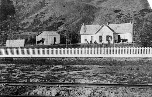 Salt Lake Tribune archive  The William Stevens home in Echo, Utah, 1868.
