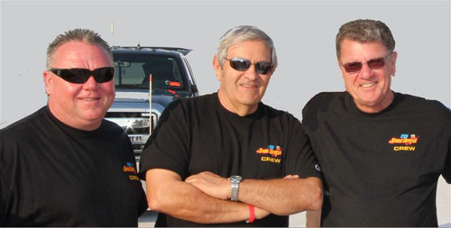 George Poteet driving Speed Demon on the Salt Flats. (Courtesy Bob Main)