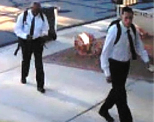 """These bogus """"elders"""" are being sought by Las Vegas, Nev., police for allegedly beating and robbing a homeowner at gunpoint. (Las Vegas police photo)"""