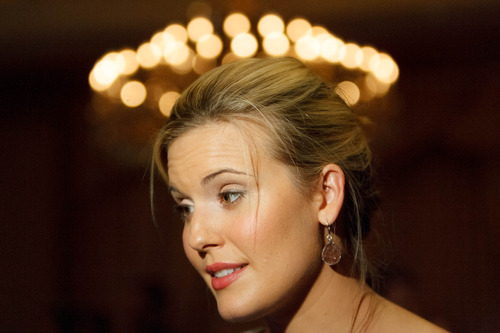 Trent Nelson  |  The Salt Lake Tribune Actress Maggie Grace at Utah's Night for Global Citizens with Larry King, Saturday, August 24, 2013, in Salt Lake City.