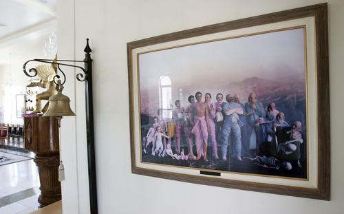 Steve Griffin | The Salt Lake Tribune Artwork is featured throughout the Sri Sri Radha Krishna Temple in Spanish Fork on Thursday, Aug. 15, 2013.