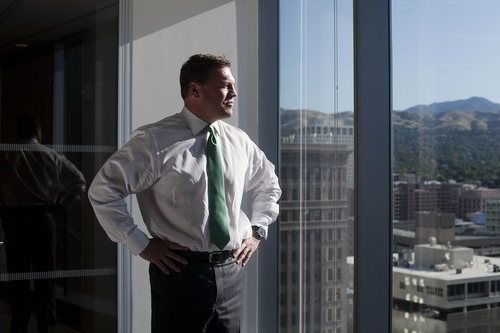 Jim McAuley | The Salt Lake Tribune  David Lang, head of the Goldman Sachs office in Salt Lake City, calls the investment bank's growth to prominence in Utah as a happy accident.