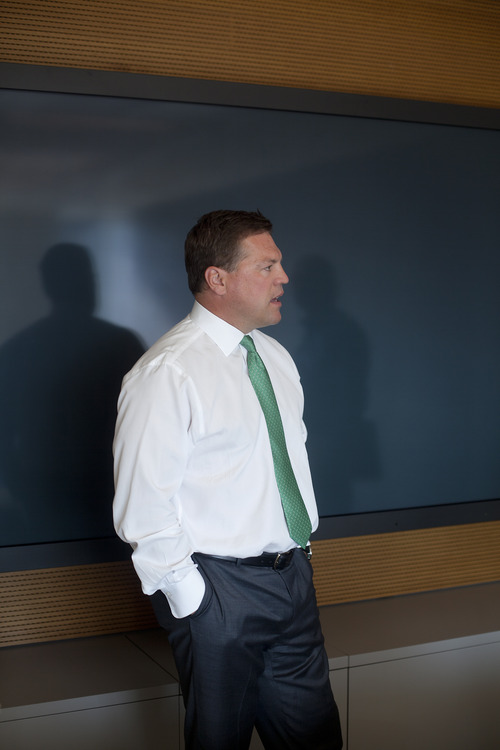 Jim McAuley | The Salt Lake Tribune  David Lang, head of the Goldman Sachs office in Salt Lake City, says the firm's Utah operations are the investment bank's fourth-largest location in the world, behind New York-New Jersey; London; and Bangalore, India's technology capital.