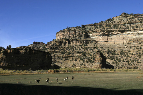 Rick Egan      Tribune file photo   Gov. Gary Herbert is asking the School and Institutional Trust Lands Administration to not execute a contract with Anadarko petroleum to allow oil and gas exploration on close to 100,000 acres of SITLA land in the scenic Book Cliffs.