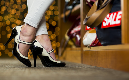 New BYU research shows that shoppers who wear high heels think differently when they shop. Jaren Wilkey | Photo courtesy of Brigham Young University