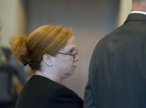 Paul Fraughton  |   The Salt Lake Tribune Former justice court Judge Virginia Ward changes her plea to guilty in the Tooele County courtroom of Judge Robert Adkins.  Tuesday, August 27, 2013