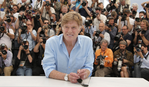 Actor Robert Redford poses during a photo call for the film All is Lost at the 66th international film festival, in Cannes, southern France, Wednesday, May 22, 2013. (AP Photo/Francois Mori)