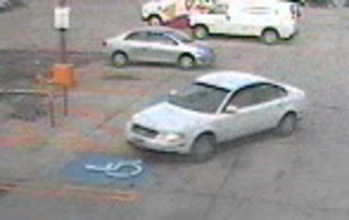 Unified Police want to locate the driver of this car, suspected in a hit-and-run crash in Millcreek that left a woman bicyclist in critical condition Tuesday. (UPD photo)