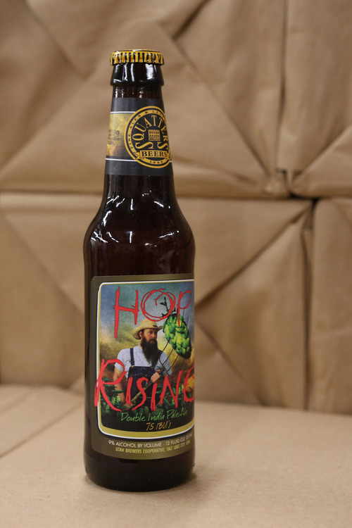 Francisco Kjolseth  |  The Salt Lake Tribune Squatters Hop Rising IPA, which is among the best-selling liquor brands in Utah.