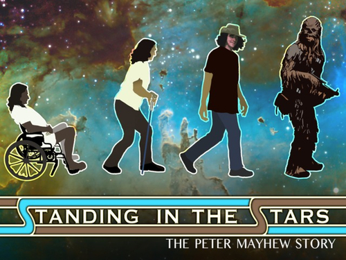 Promotional art for an upcoming Peter Mayhew documentary.
