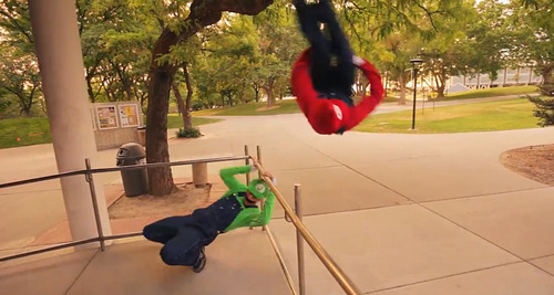 In this screenshot, Christian Russell, top, and Ronnie Shalvis portray Mario and Luigi in a YouTube video produced by Warialasky.