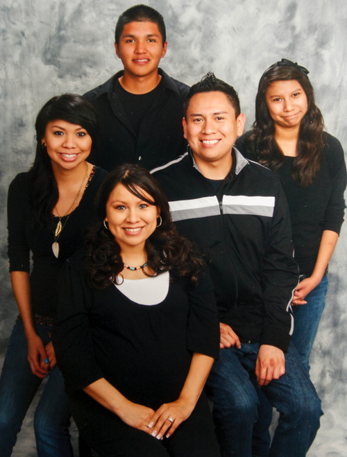 Courtesy Photo | Yazzie family Kaleb Yazzie, rear, was stabbed to death in a drunken fight at a party in Salt Lake City. He is pictured here with his siblings. Clockwise from top, Kaleb Yazzie, Steven Yazzie, Taya Yazzie, Stephanna Lovell, Jachelle Yazzie.