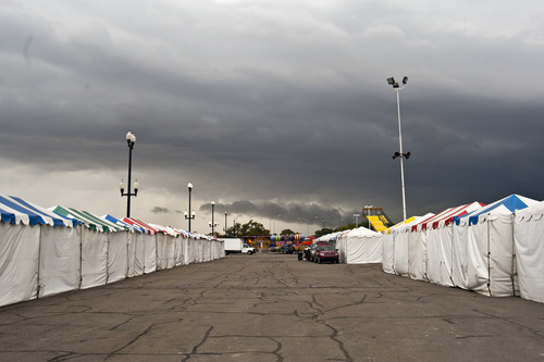 Chris Detrick  |  The Salt Lake Tribune The empty midway before the start of the Utah State Fair Tuesday September 3, 2013. The Utah State Fair begins on Thursday, when the 2013 fair opens its 11-day run at the Fairpark at 266 N. 1000 West. The fair has been held at this Salt Lake City location since 1902.