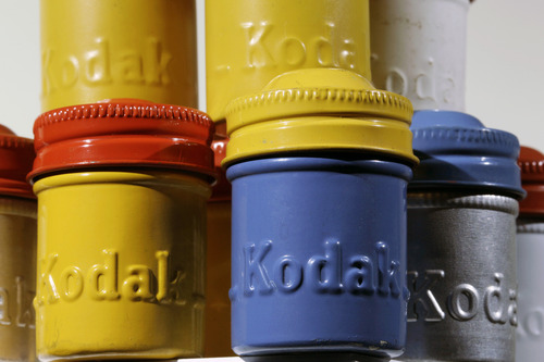 Mel Evans  |  The Associated Press Colorful vintage Kodak film canisters are displayed in Newtown, Pa. Eastman Kodak Co. obtained a bankruptcy judge's approval to borrow an initial $650 million from Citigroup Inc. to keep operations running while it peddles a trove of digital-imaging patents.