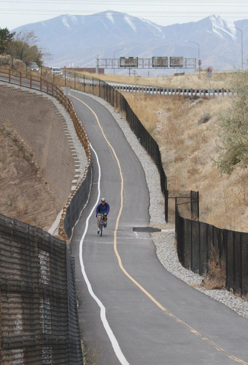 Tribune file photo by Rick Egan A trail such as this is likely to be developed on the south side of Interstate 80, between 1700 East and Tanner Park, with proceeds from a $47 million parks and trails bond approved last year by  Salt Lake County voters.