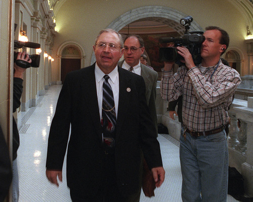 Mel Brown entering the House Ethics Committee meeting.   ryan galbraith/photo