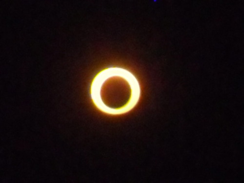 The Solar Eclipse. May 20, 2012. Taken with a pocket camera and an eclipse viewer at Paunsaugunt Cliffs Utah, just North of Hatch Utah. Courtesy Bev Lowe