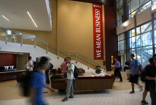 Scott Sommerdorf   |  The Salt Lake Tribune The main foyer inside the new Spencer Fox Eccles Business Building at the University of Utah, Thursday, September 5, 2013.