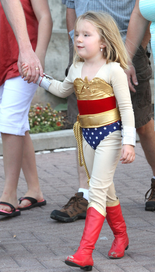 Rick Egan  | The Salt Lake Tribune   Lilly Toomey, 5, Syracuse, as Wonder woman, at the Salt Lake ComiCon at the Salt Palace,  Wednesday, September 4, 2013.