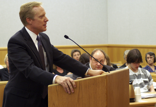 Wasatch County Attorney Thomas Low addresses the Court Photo by Laurie Wynn - Wasatch Wave