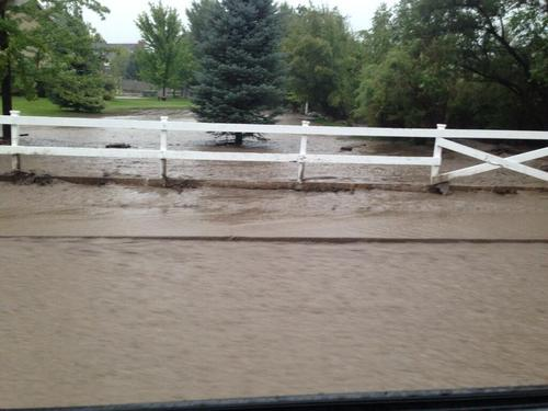 Flooding around the Lone Peak area in Utah County on Saturday, Sept. 7, 2013. | Courtesy of Lone peak Police Department.