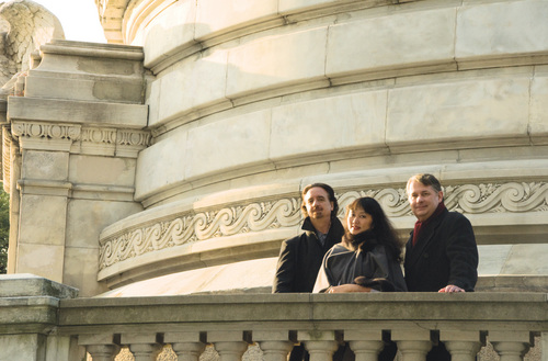Courtesy photo David Finckel, Wu Han, and Philip Setzer are the featured performers in Beethoven's Triple Concerto.
