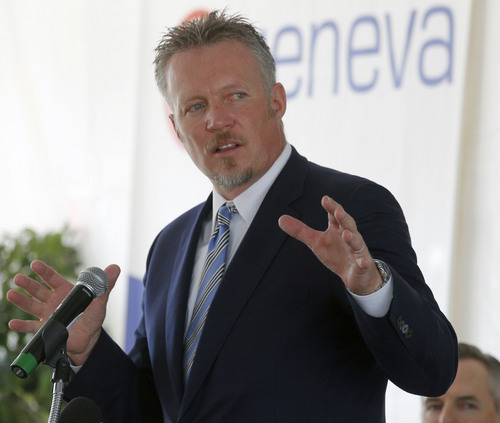 Al Hartmann  |  The Salt Lake Tribune Greg Miller, CEO of Larry H. Miller Group of Companies, announced that it would build a multiplex theater in @Geneva, a large master-planned community on the site of the old Geneva steel mill in Utah County.