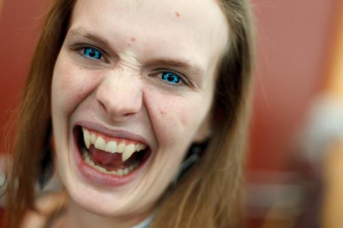 Trent Nelson  |  The Salt Lake Tribune Vampire Nicole Bundrick at Salt Lake Comic Con in Salt Lake City Saturday, September 7, 2013.