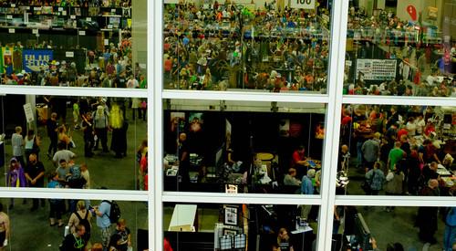 Trent Nelson  |  The Salt Lake Tribune The exhibition hall at Salt Lake Comic Con in Salt Lake City Saturday, September 7, 2013.