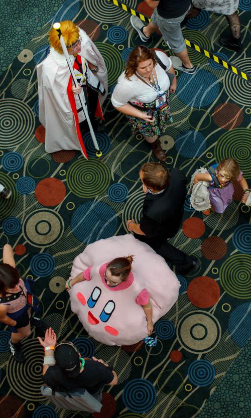 Trent Nelson  |  The Salt Lake Tribune Attendees on the show floor at Salt Lake Comic Con in Salt Lake City Saturday, September 7, 2013.