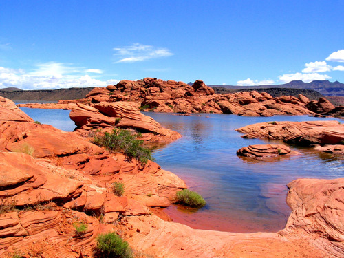 Sand Hollow Reservoir near St. George, Utah.