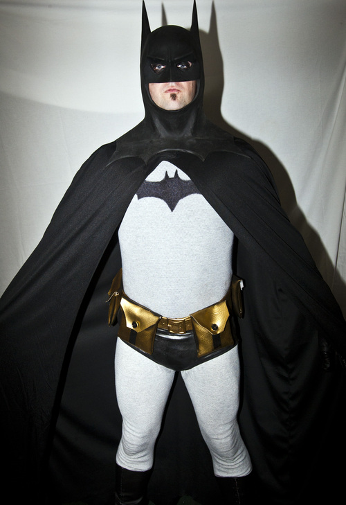 Chris Detrick  |  The Salt Lake Tribune Cody Wagner, of Lehi, poses for a portrait as Batman during the inaugural Salt Lake Comic Con at the Calvin L. Rampton Salt Palace Convention Center on Friday.