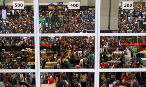 Trent Nelson  |  The Salt Lake Tribune Large crowds fill the Salt Palace Convention Center at Salt Lake Comic Con in Salt Lake City Saturday, September 7, 2013.