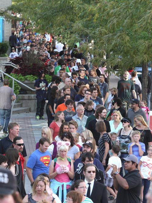 Rick Egan  | The Salt Lake Tribune   Hundreds line up for the Salt Lake ComiCon at the Salt Palace,  Wednesday, September 4, 2013.