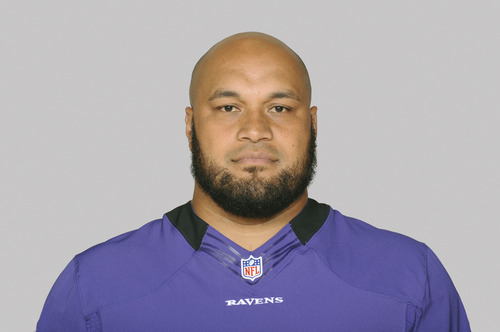 This is a 2012 photo of Ma'ake Kemoeatu of the Baltimore Ravens NFL football team. This image reflects the Baltimore Ravens active roster as of Monday, June 11, 2012 when this image was taken. (AP Photo)