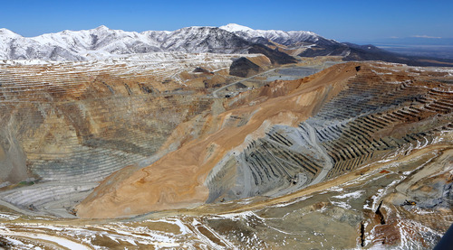 Francisco Kjolseth  |  Tribune file photo An April 10 landslide sent about 165 million tons of rock crashing down into the Bingham Canyon Mine. The slide reduced production, resulting in layoffs, the restructuring of top management and a 3.4 percent drop in June sales collections in Salt Lake County.