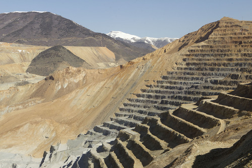 Al Hartmann  |  Tribune file photo Salt Lake County's sales-tax receipts in June were down 3.4 percent less from the same month a year earlier, with financial officials attributing the decline in part to a massive landslide April 10 that shut down most active mining activity at Kennecott's Bingham Canyon Mine.