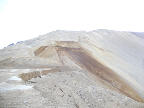 | Courtesy Kennecott Utah Copper Kennecott Utah Copper is continuing to monitor earth movement at its Bingham Canyon Mine. A small slide struck the open pit copper mine on Wednesday although it was tiny compared to the massive landslide that occurred on April 10.