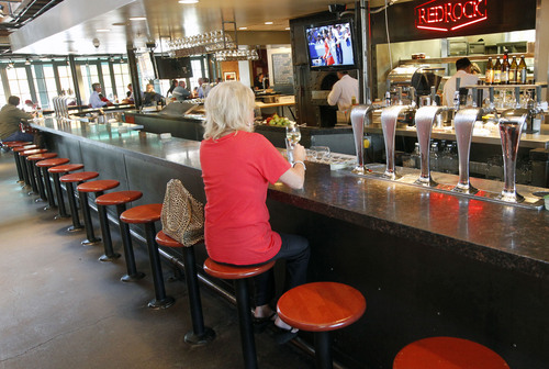 Al Hartmann | The Salt Lake Tribune A Customer At Red Rock Brewing In  Downtown Salt